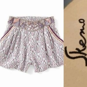 NWT Skemo Girls Boho Borneo Beaded Shorts